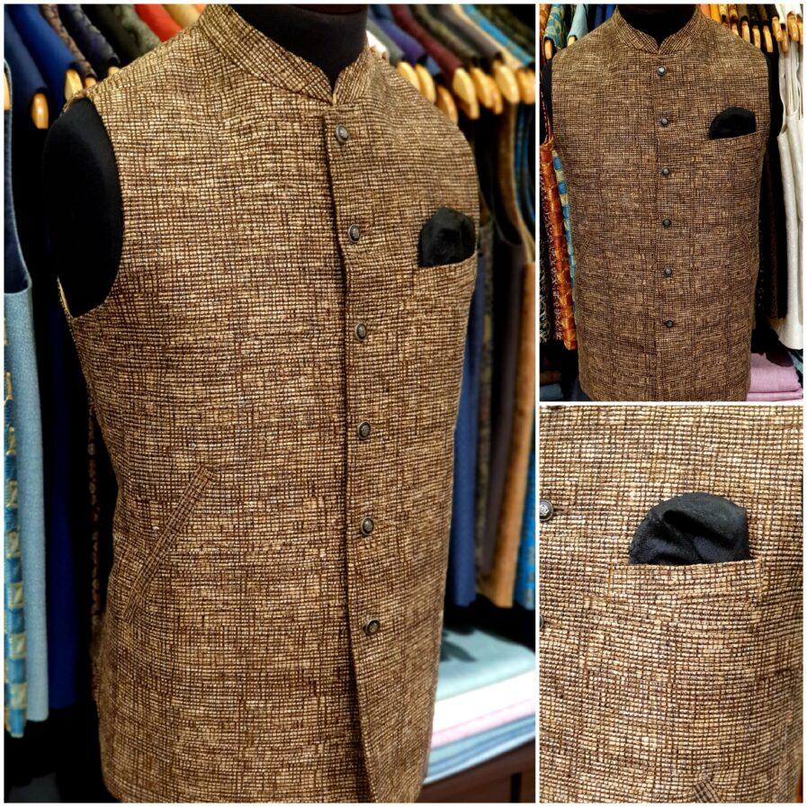 Brown Jute Waist Coat