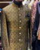 Golden & Black Jamawar Prince Coat
