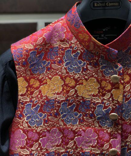 Multi Colour Patch Waist Coat