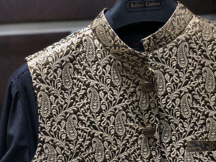 Gold Copper & Black Waist Coat