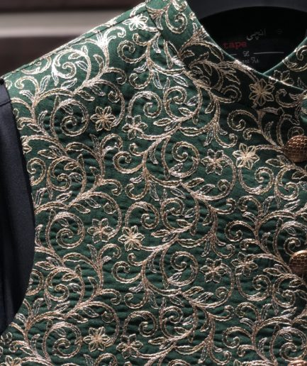 Green Embroidered Waist Coat