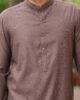 Dark Brown Shalwar Kameez with Punched Sherwani