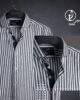 Dusty Black & White Stripes