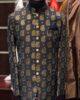 Black Motif Printed Jamawar Prince Coat