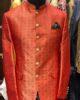 Orange Jamawar Prince Coat