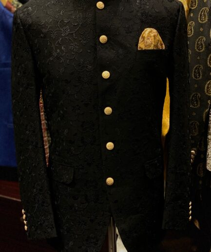 Black Embroidered Prince Coat