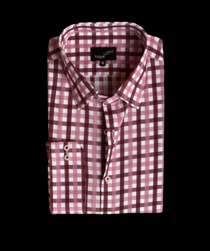 Red Pink Checkered Shirt