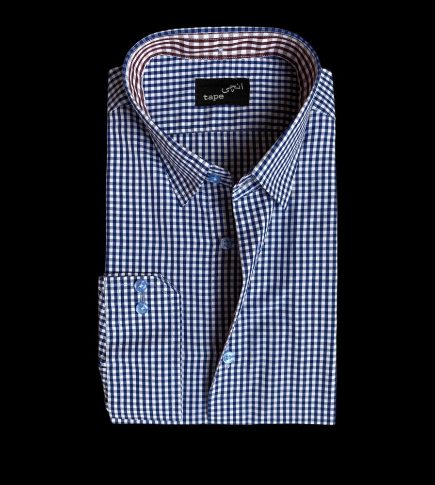 Blue Checkered Cotton Shirt