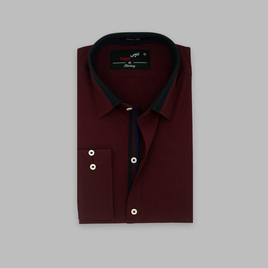 Maroon Cotton Shirt