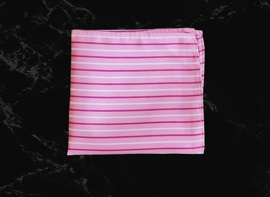 Twill Stripes Textured Pocket Square