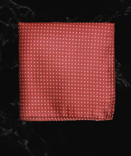 Red & White Pin Textured Embossed