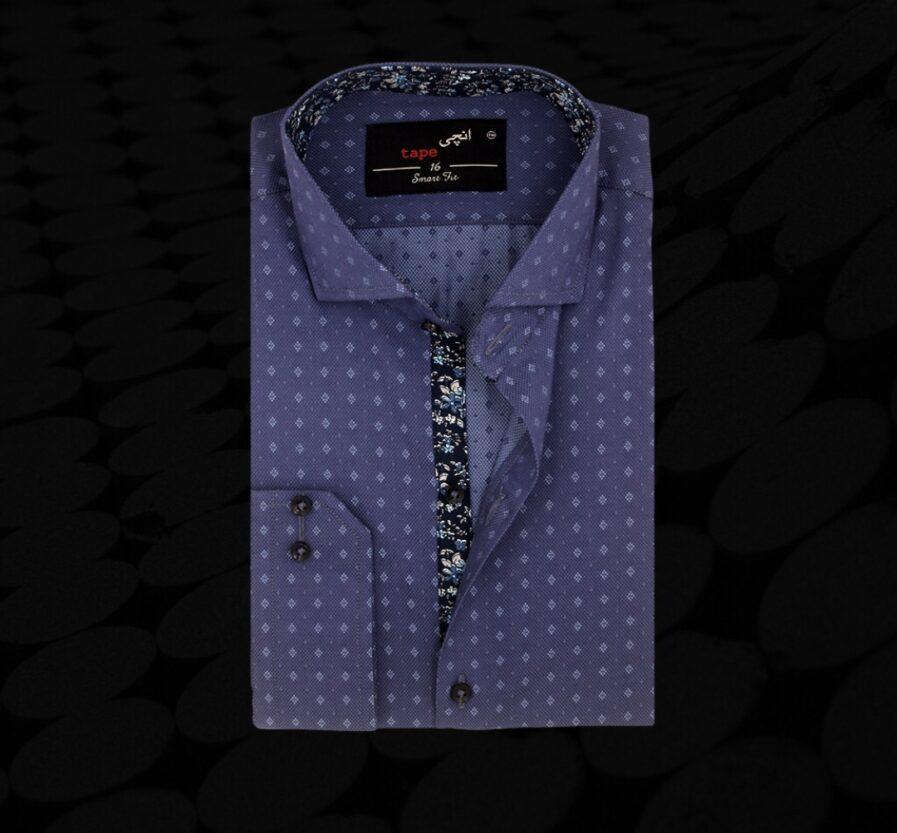 Two Tone Diamond Printed Shirt