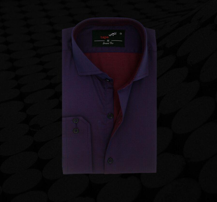 Two Tone Purple Formal Shirt