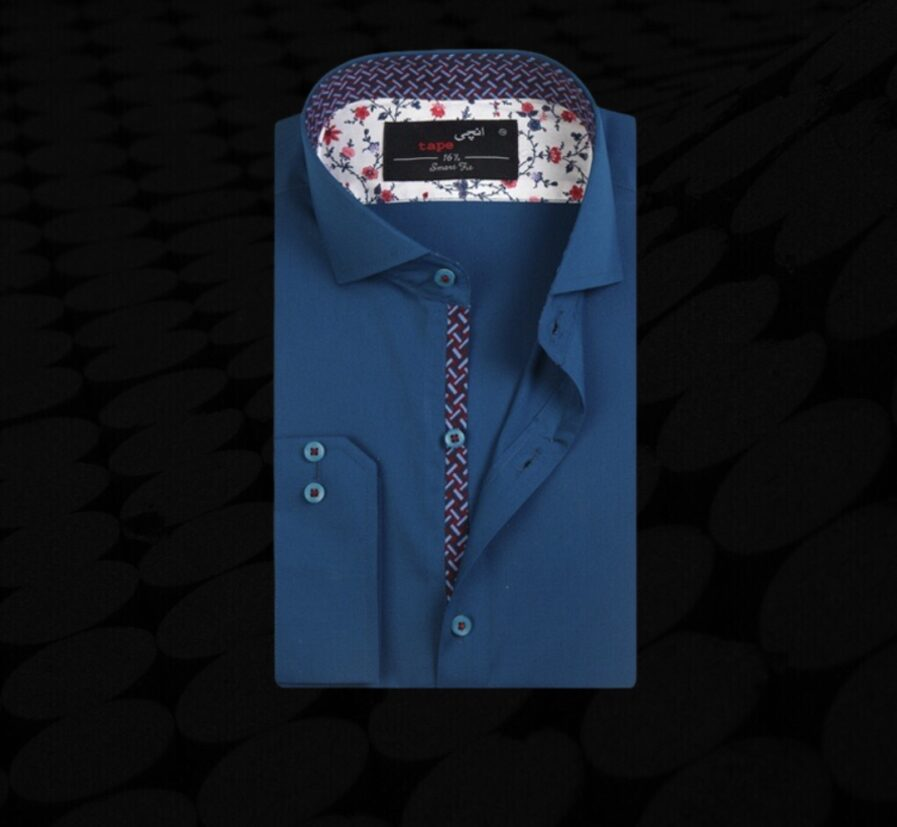 Cello Blue Business Casual Shirt