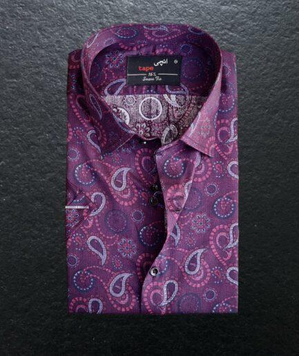 Maroon Floral Cotton Shirt