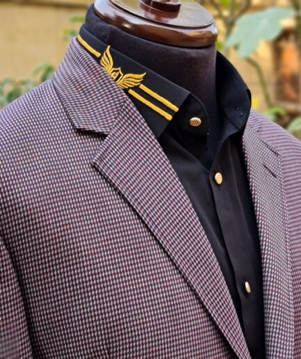 Reddish Printed Tweed Blazer