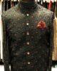Black & Red Embroidered Sherwani