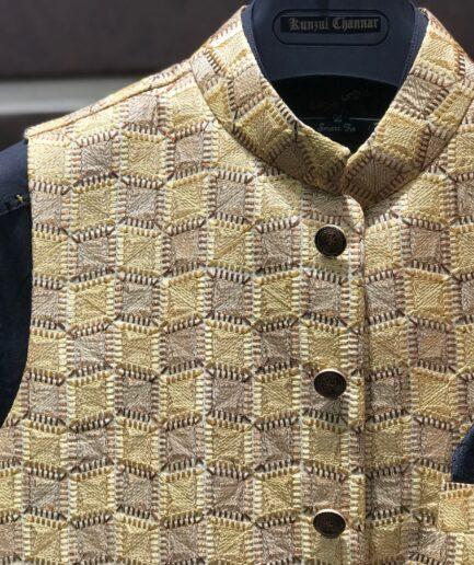 Golden Embroidered Waist Coat
