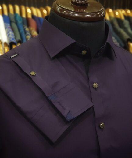Dark Purple Classic Collar Shalwar Kameez