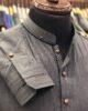Ash Grey Band Collar Shalwar Kameez