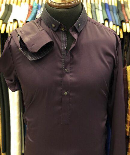 Purple Cotton Shalwar Kameez