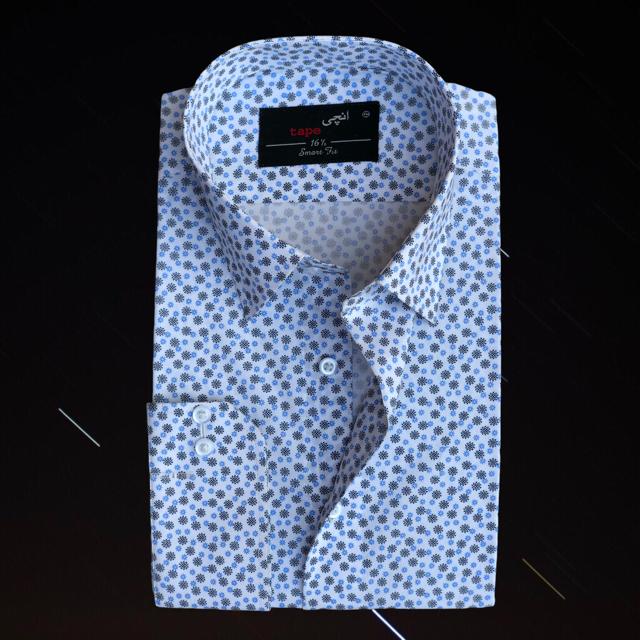 Blue Ash Grey Printed Shirt