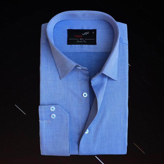Jacquard Light Blue Shirt