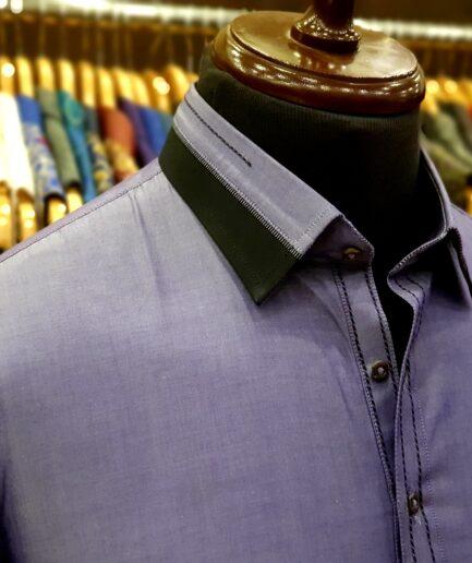 Lilac Shirt Collar Shalwar Kameez