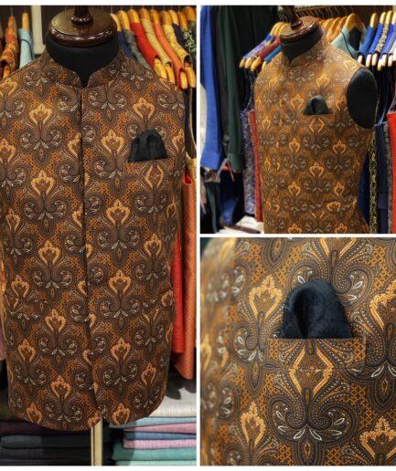 Floral Cotton Waist Coat