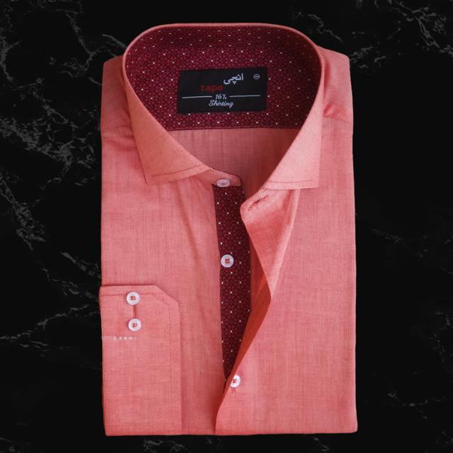 Light Orange Cotton Shirt