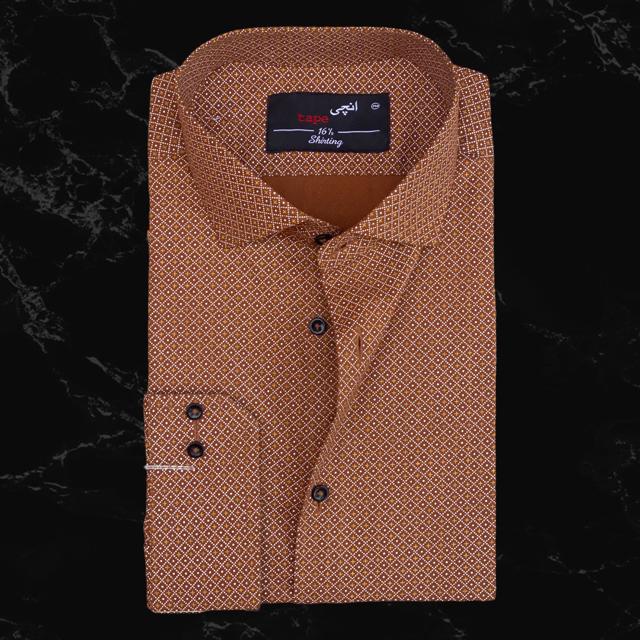 Brown & Mustard Printed Shirt