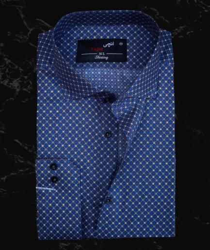 Royal Blue Circle Printed Shirt