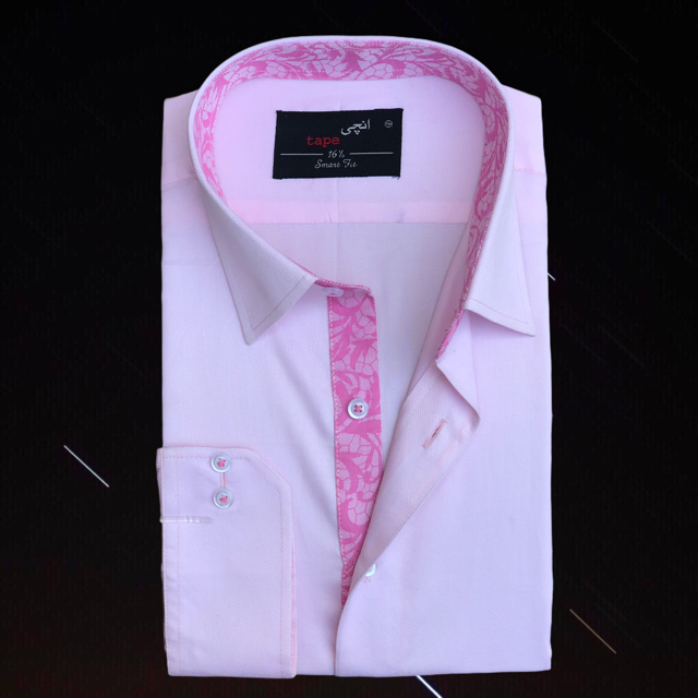 Pink Jacquard Shirt