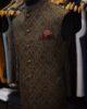 Rust Jamawar Waist Coat