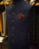Royal Blue Jamawar Waist Coat