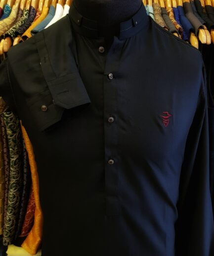 Black Shalwar Kameez with Exclusive Cow Boy Logo