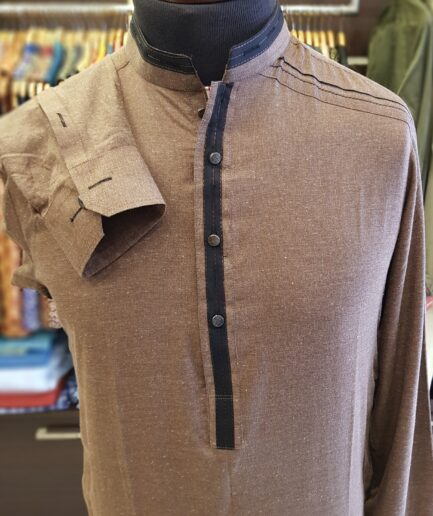 Mud Brown Shalwar Kameez