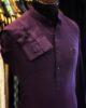 Purple Cotton Linen Kurta Trouser