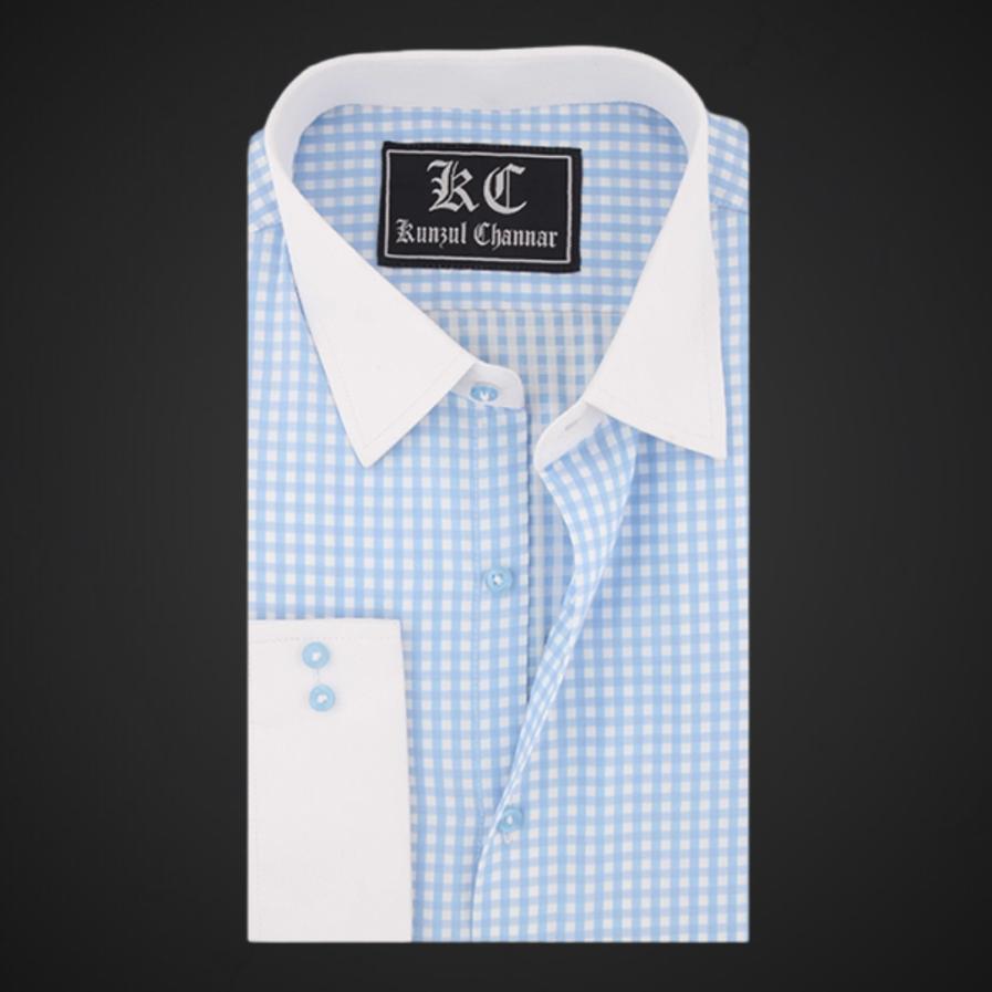 Regent St Blue and White Checkered