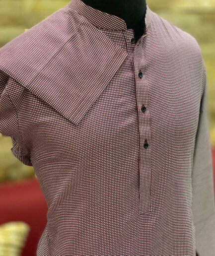 Pin Dot Printed Cotton Kurta