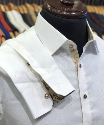 Classic Collar White Kurta Trouser