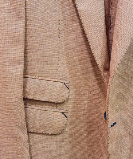 Jacquard Peach Pin Dot Blazer