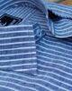 Blue & White Stripes Linen Shirt