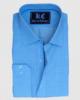 Sky Blue Checkered Linen Shirt