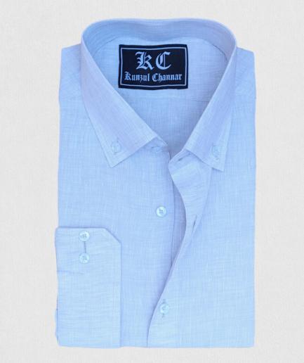 Ash Grey Linen Shirt