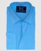 Sky Blue & White Stripes Linen Shirt