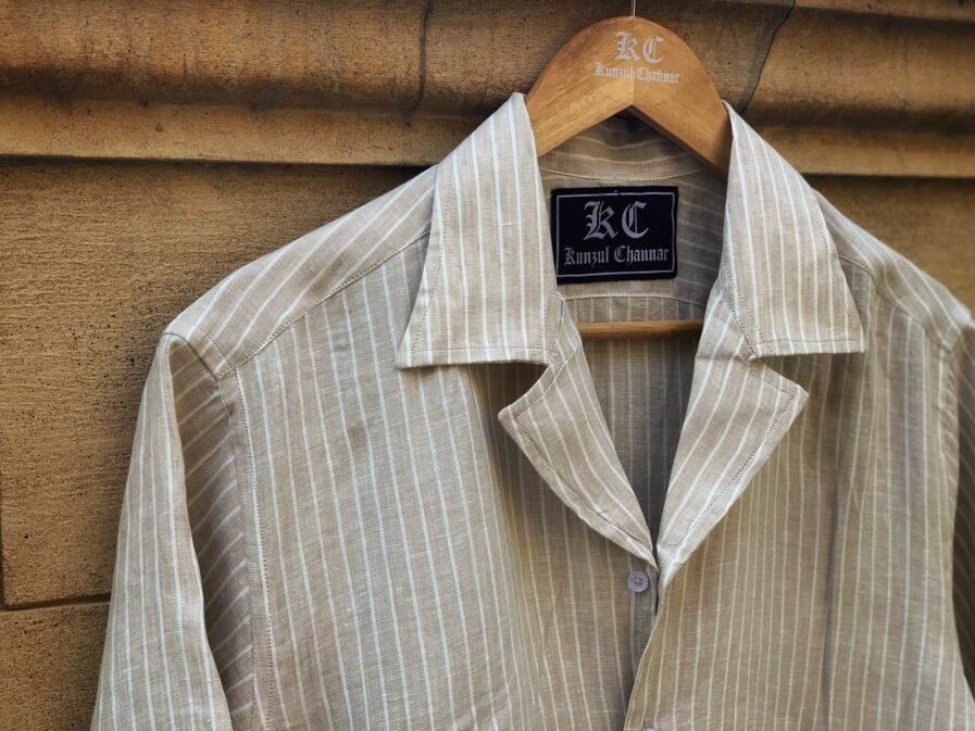Tortilla Striped Coat Collar Shirt