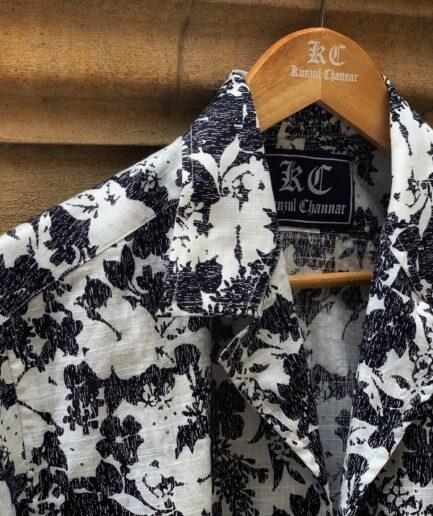 Black Patch Coat Collar Shirt