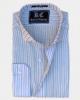 Light Blue & White Striped Linen Shirt