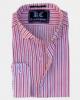 Red & White Striped Linen Shirt